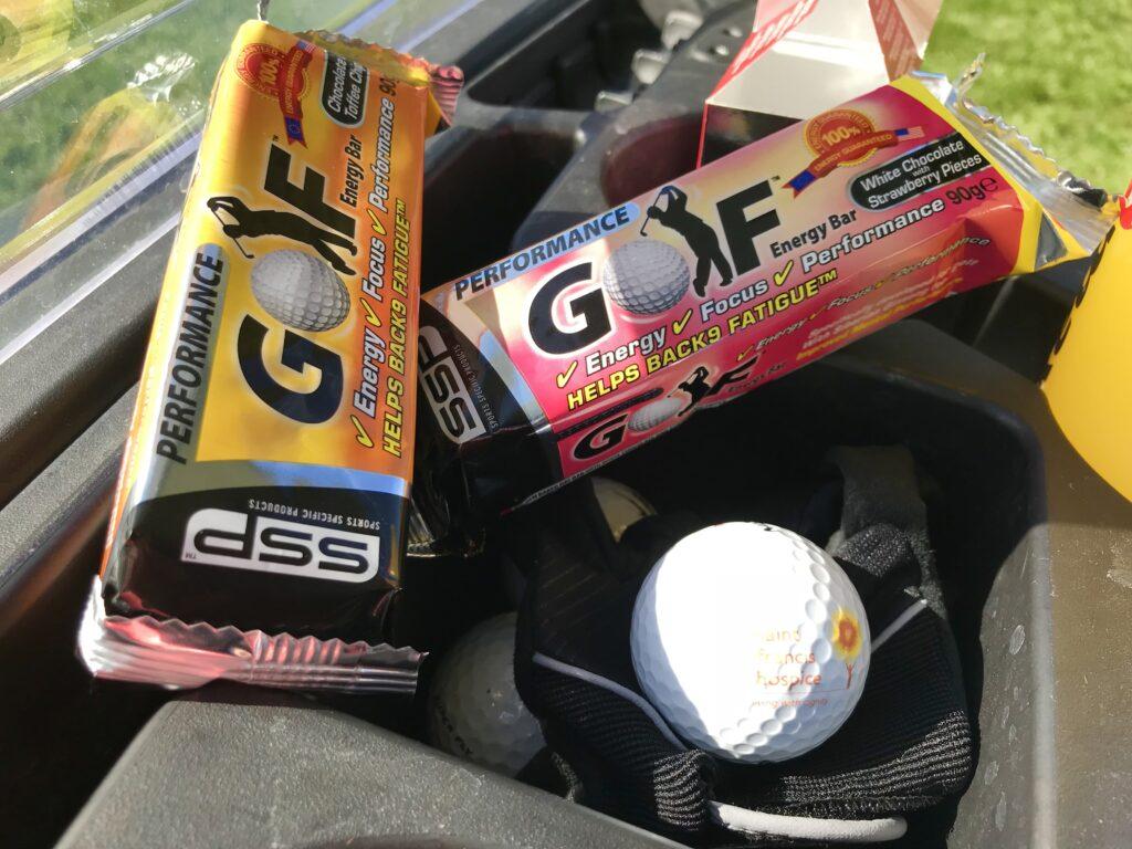 Golf bars on bag
